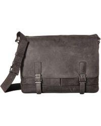 Frye - Oliver Messenger (black Soft Tumbled Full Grain) Messenger Bags - Lyst