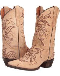Dan Post - Nora (bone) Cowboy Boots - Lyst