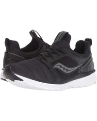 reputable site 74613 1c84b Saucony - Stretch Go Ease (black charcoal) Women s Running Shoes - Lyst