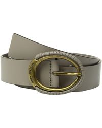 MICHAEL Michael Kors - 38mm Belt W/ Wrapped Buckle (black) Women's Belts - Lyst