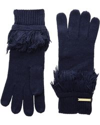 MICHAEL Michael Kors - Rib Fringe Gloves (cream/gold) Extreme Cold Weather Gloves - Lyst