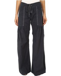 XCVI - Willow Wide Leg Stretch Poplin Pants (charcoal) Women's Casual Pants - Lyst