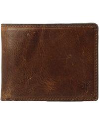 Frye - Logan Slim Id Billfold (cognac Antique Pull-up) Bill-fold Wallet - Lyst