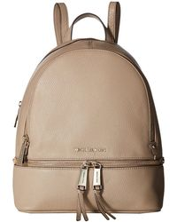 8eb5ac9e0259 MICHAEL Michael Kors - Rhea Zip Medium Backpack (truffle) Backpack Bags -  Lyst