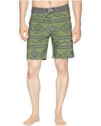Captain Fin - Broken Lines Boardshorts (olive) Men's Swimwear - Lyst
