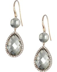 Roberto Coin - Cocktail Collection Earrings 18kt (green Amethyst) Earring - Lyst