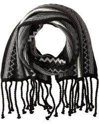 Smartwool - Pine Lake Chevron Scarf (charcoal Heather) Scarves - Lyst