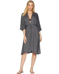 Michael Stars - Brooklyn Jersey Long 3/4 Sleeve Cover-up - Lyst