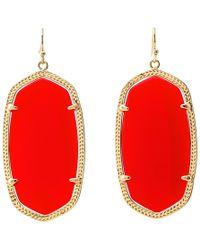 Kendra Scott - Danielle Earrings (gold/bright Red Opaque Glass) Earring - Lyst