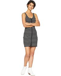 Lucy Love - Snap It Up Dress (black/white Striped) Women's Dress - Lyst