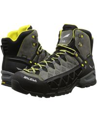 Salewa - Alp Flow Mid Gtx (smoke/yellow) Men's Shoes - Lyst