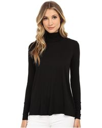 Three Dots - L/s Relaxed High Low Turtleneck - Lyst