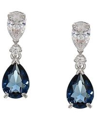 58f04b6cd3d4d8 Swarovski Heap Pear Pierced Earrings - Violet - Rose Gold Plating ...