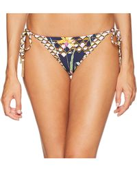 Trina Turk - Fiji Floral Mix Tie Side Hipster Bottom (midnight) Women's Swimwear - Lyst