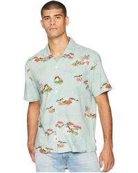 Brixton - Lovitz Short Sleeve Woven Shirt (aqua) Men's Short Sleeve Button Up - Lyst