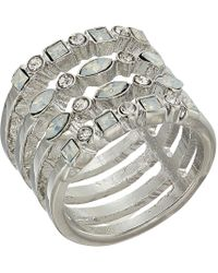 Guess - Look Of Multi Stack Ring - Lyst