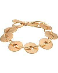 Robert Lee Morris - Gold Disc Link Bracelet (gold) Bracelet - Lyst