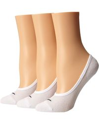 Nike - 3 Pair Pack Lightweight Footie (white/black) Women's No Show Socks Shoes - Lyst