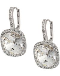 Swarovski - Lattitude Pierced Earrings (rhodium Plating/white) Earring - Lyst