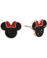 Swarovski - Mickey Minnie Pierced Earrings (black) Earring - Lyst