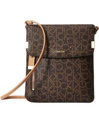 Calvin Klein - Raelynn Monogram Crossbody (brown/khaki) Cross Body Handbags - Lyst