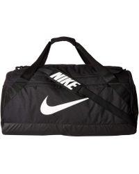 Nike - Brasilia Large Duffel Bag (black/black/white) Duffel Bags - Lyst