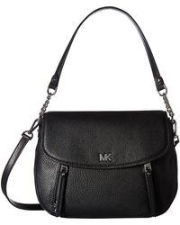 MICHAEL Michael Kors - Evie Medium Shoulder Flap (black) Shoulder Handbags - Lyst
