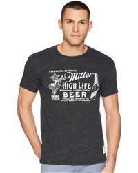 The Original Retro Brand - Streaky Tri-blend Vintage Miller High Life Short Sleeve Tee (streaky Black) Men's T Shirt - Lyst