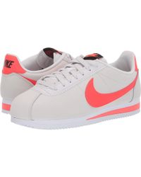 official photos 22196 6d651 Nike - Classic Cortez Leather (white black white) Women s Shoes - Lyst