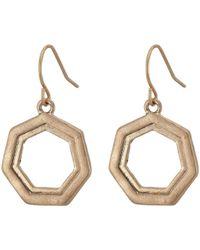 The Sak - Layered Geo Drop Earrings (gold) Earring - Lyst