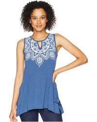 Roper - 1767 Polyester Rayon Tank Top (blue) Women's Sleeveless - Lyst