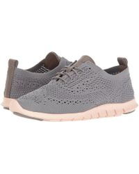 Cole Haan - Zerogrand Stitchlite Oxford (ironstone Knit/leather/tropical Peach) Women's Lace Up Casual Shoes - Lyst
