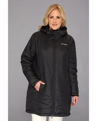 Columbia - Plus Size Mighty Litetm Hooded Jacket (black) Women's Coat - Lyst