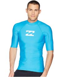 Billabong - All Day Wave Performance Fit Short Sleeve (new Blue) Men's Swimwear - Lyst