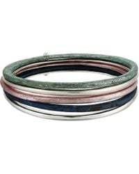 Robert Lee Morris - Silver And Patina Bangle Set - Lyst