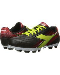 Diadora - Mago L W Lpu (black/lime/red) Women's Soccer Shoes - Lyst
