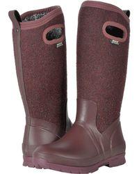 Bogs - Crandall Tall Wool (dark Gray) Women's Boots - Lyst
