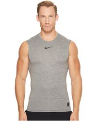 2656d1b7 Nike - Pro Fitted Sleeveless Training Top (carbon Heather/black/black) Men's