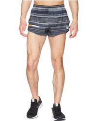 "New Balance - Printed Impact Split Shorts 3"" - Lyst"