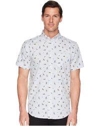 Ben Sherman - Short Sleeve Park Life Print Shirt (white) Men's Short Sleeve Button Up - Lyst