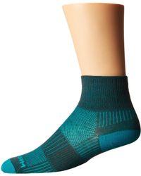 Wrightsock - Coolmesh Ii Quarter (white) Quarter Length Socks Shoes - Lyst
