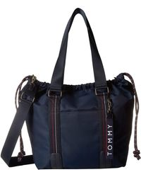 706554f0 Lyst - Tommy Hilfiger Tommy Signature Pebble Hobo in Blue