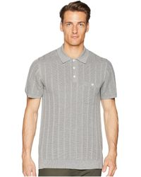 Todd Snyder - Cotton Silk Ribbed Knit Polo - Lyst