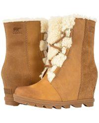 Sorel - Joan Of Arctictm Wedge Ii Shearling (quarry) Women's Waterproof Boots - Lyst