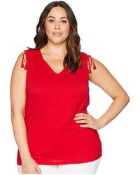 Lauren by Ralph Lauren - Plus Size Tassel-tie Jersey Top (lipstick Red) Women's Clothing - Lyst