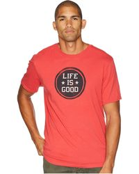 Lyst - Life Is Good  Lig Coin Crusher Tee in Blue for Men