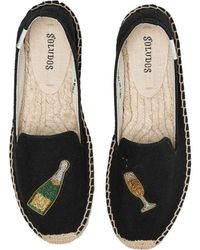 Soludos - Cheers Smoking Slipper (black) Women's Shoes - Lyst