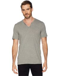 Mod-o-doc - Topanga Short Sleeve Notch V-neck Tee (grey Sky) Men's T Shirt - Lyst