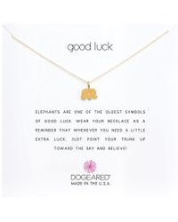 Dogeared - Good Luck Elephant Reminder Necklace (sterling Silver) Necklace - Lyst
