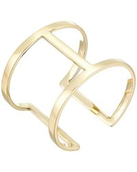 Vince Camuto - Sculptural Open Cuff Bracelet (silver) Bracelet - Lyst